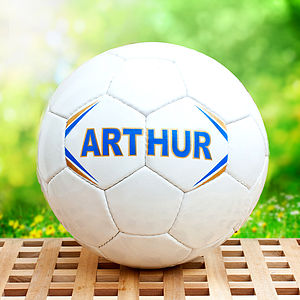 Hand Stitched Personalised White Football - gifts for teens & older children