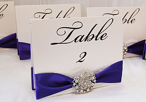 Opulence Free Standing Wedding Table Number