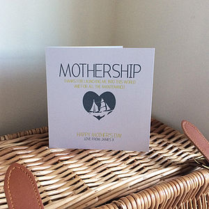Mothership Personalised Mother's Day Card