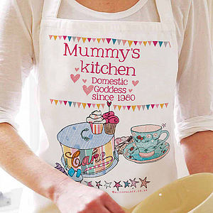 Personalised Domestic Goddess Apron - gifts for the home