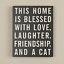 Love, Laughter And Cat Plaque
