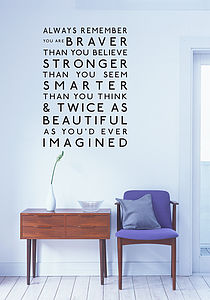 Always Remember Wall Sticker - decorative accessories