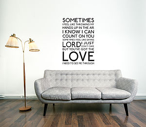 You've Got The Love Wall Sticker