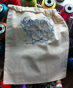 Embroidered Treats Bag For Pets - dogs