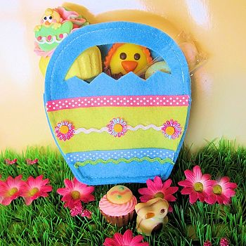 Easter Bag Filled With Chocolate