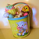 Easter Bucket Filled With Chocolate