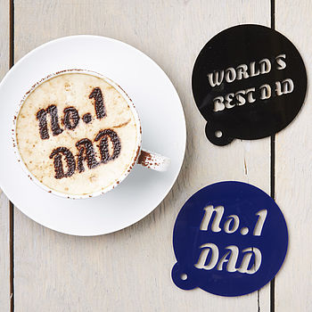 Personalised 'No1 Dad' Coffee Stencil