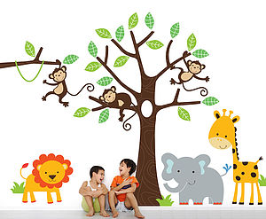 Children's Jungle Wall Sticker Set - children's room
