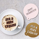 Personalised Wedding Coffee Stencil