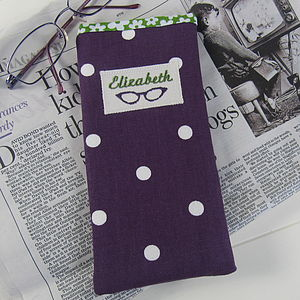 Personalised Women's Glasses Case