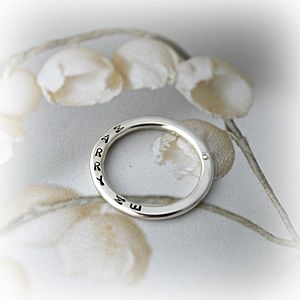 Personalised Diamond 'Marry Me' Ring