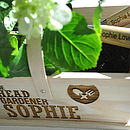 Personalised 'The Head Gardener' Trug