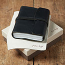 Antara Chunky Black Leather Journal