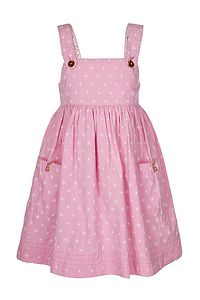 Pink Pinafore Dress - clothing
