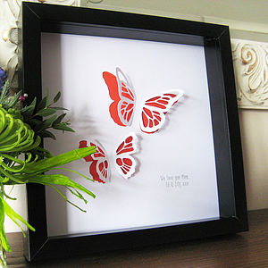 Butterfly Paper Cut Framed