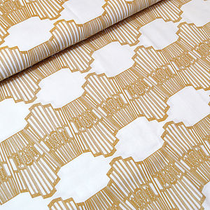 Ornamental Wave Fabric - throws, blankets & fabric