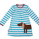 Organic Cotton Sausage Dog Applique Dress