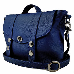 Marine Blue 'Mini Satchel' Handbag