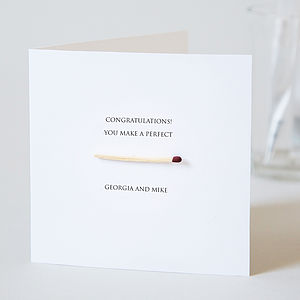 Congratulations Perfect Match Card - wedding stationery