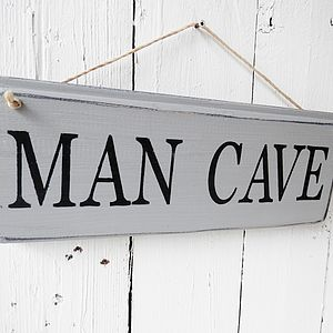 Man Cave Twine Strung Sign