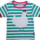 Organic Cotton Chicken Applique T Shirt
