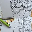 Colouring In Patent Brogues Fathers Day Greeting Card