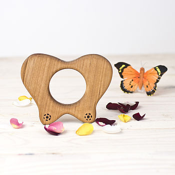 Wooden Butterfly Teether