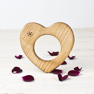 Organic Wooden Heart Teether