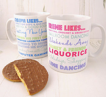 Personalised Loves Mug