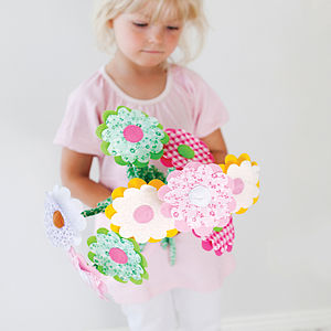 Handmade Fabric Flowers - soft toys & dolls