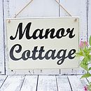 House Sign Personalised