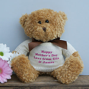 Personalised Mother's Day Bear - gifts from younger children