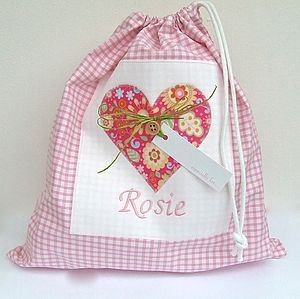 Personalised Shoe Bag With Heart - children's room accessories