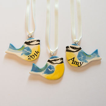 Personalised Hand Painted Little Blue Tit