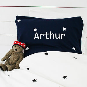 Boy's Personalised Star Bed Linen - bed, bath & table linen
