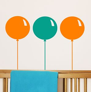 Set Of Three Balloon Wall Stickers