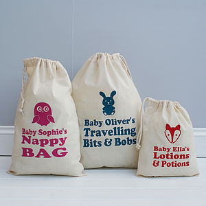 Personalised Animal Baby Storage Bag - children's room accessories
