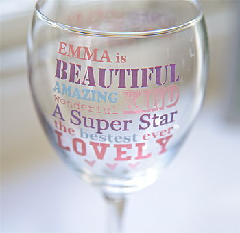 Personalised 'Best Mum' Wine Glass