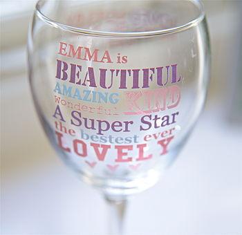 Personalised 'Best Mum' Wine Glass
