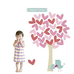 Heart Tree Fabric Wall Stickers - wall stickers