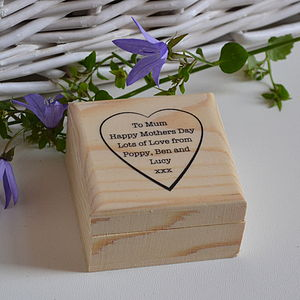 Personalised Trinket Box - mother's day gifts