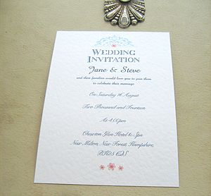 Wedding Invitations Blue Lace