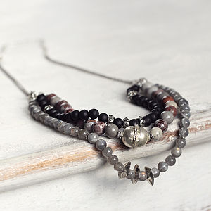 Multi Layered Gemstone Necklace - necklaces & pendants