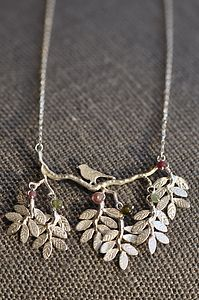 Bird And Leaves Necklace - necklaces & pendants