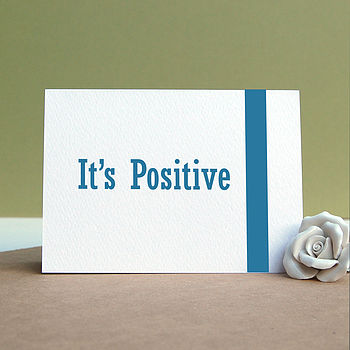 'It's Positive' Pregnancy Card
