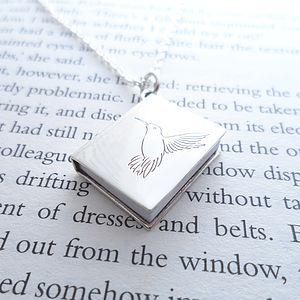 Personalised Silver Book Pendant - women's jewellery