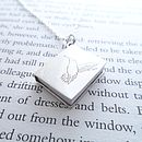 Personalised Silver Book Pendant