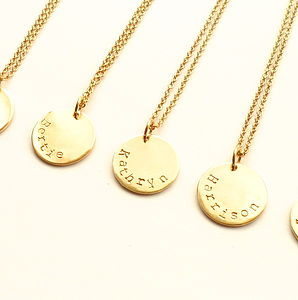 Personalised Name Disc Pendant - personalised