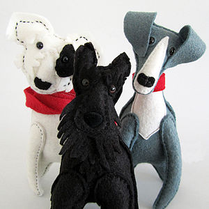 Personalised Felt Dog Sculpture
