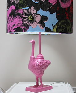 Pink Ostrich Lamp And Shade - lighting